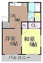 東京都大田区鵜の木2丁目の賃貸マンションの間取り