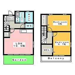 [テラスハウス] 愛知県安城市今本町3丁目 の賃貸【/】の間取り