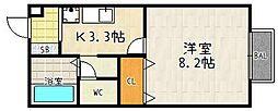 上萱の園[1階]の間取り