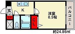 エース弐番館[5階]の間取り