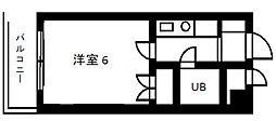 ピースフルハウス[402号室]の間取り