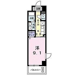 Osaka Metro長堀鶴見緑地線 門真南駅 徒歩10分の賃貸マンション 4階1Kの間取り
