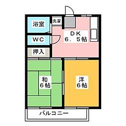 ハミングアオイ[2階]の間取り