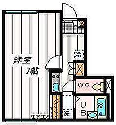 埼玉県川口市朝日5丁目の賃貸アパートの間取り