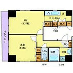 東京メトロ半蔵門線 水天宮前駅 徒歩3分の賃貸マンション 9階1LDKの間取り