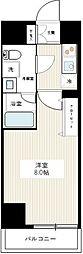 東京メトロ日比谷線 北千住駅 徒歩17分の賃貸マンション 9階1Kの間取り