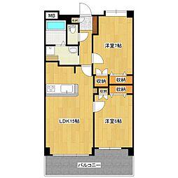 シャルマンコート伊賀[3階]の間取り