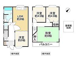 Osaka Metro堺筋線 天下茶屋駅 徒歩6分 4DKの間取り