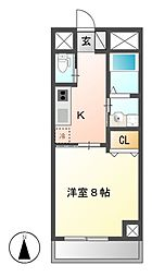 BERG IZUMI(ベルグイズミ)[3階]の間取り