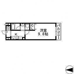 サイプレス小阪駅前[203号室号室]の間取り