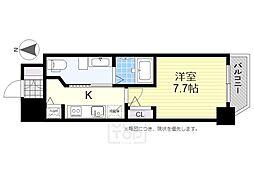 エステムコート南堀江3チュラ[8階]の間取り