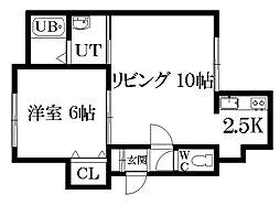 Comfort place[103号室]の間取り