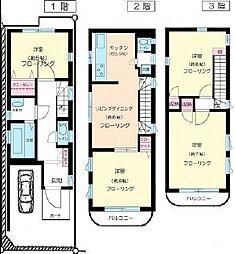 [一戸建] 東京都新宿区百人町1丁目 の賃貸【/】の間取り