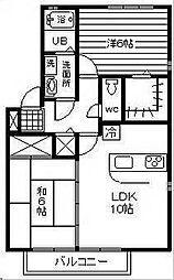 エスポワール・K[B106号室]の間取り
