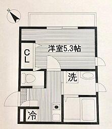 平川共同住宅[101号室]の間取り