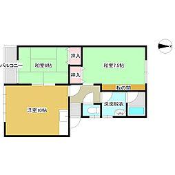 シャトレーハウス[103号室号室]の間取り