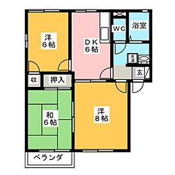 メゾン7 B棟[2階]の間取り