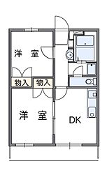 神奈川県相模原市緑区相原3丁目の賃貸マンションの間取り