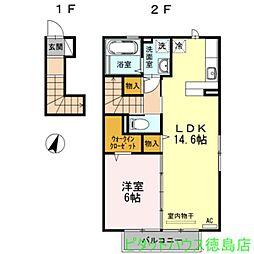 グリーンハイツ金沢[2階]の間取り