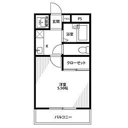 アムール 桜ヶ丘[203号室]の間取り