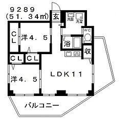 Domani(ドマーニ)[201号室号室]の間取り