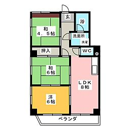 第2丸柴ビル[4階]の間取り
