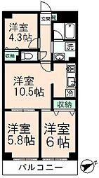 シェ・モア桜ヶ丘[5階]の間取り