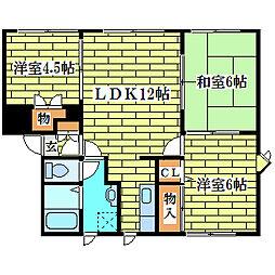 メイユール喜寿D-1[1階]の間取り
