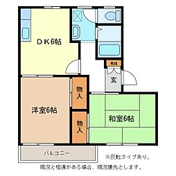 フレグランスゆりW棟[1階]の間取り