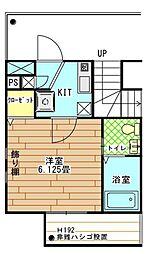 東京都文京区西片2丁目の賃貸マンションの間取り