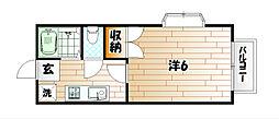 シャトレ藤松[1階]の間取り