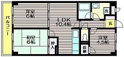 リーフレットパークKA[4階]の間取り