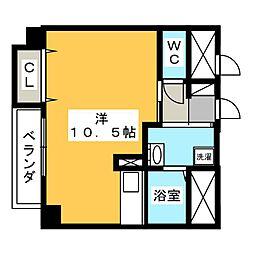 Casa Rilassante 1階ワンルームの間取り