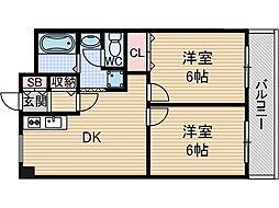 パークハイツミシマ[7階]の間取り