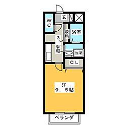 マ メゾン菊住W[3階]の間取り
