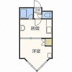 ローヤルハイツ栄通21[3階]の間取り