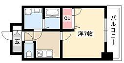 エスリード大須観音プリモ 6階1Kの間取り