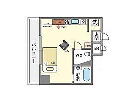 家具・家電付き スカイクリエート天神南[5階]の間取り
