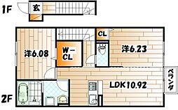 仮)D-room熊谷[2階]の間取り