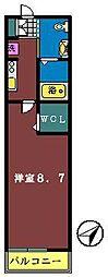 THYME FUNABASHI(湊町)[201号室]の間取り