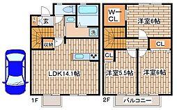 [テラスハウス] 兵庫県神戸市須磨区多井畑字東所 の賃貸【/】の間取り
