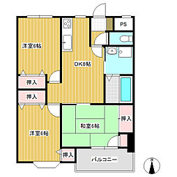 プライムハイツR・K[5階]の間取り