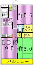 ピュアグリーン四季A・B[2302号室]の間取り
