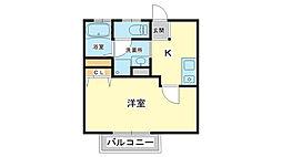 アパートメントハウス京口[2階]の間取り