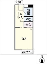 midi OHARA[2階]の間取り
