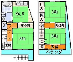 [一戸建] 三重県松阪市田原町 の賃貸【/】の間取り