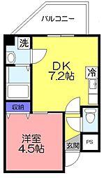 金太郎ヒルズ201[702号室]の間取り