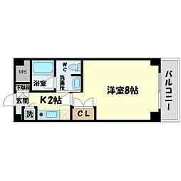 ハイムタケダ10[4階]の間取り