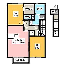 ベルタ フォート[2階]の間取り
