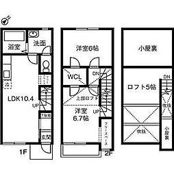 [タウンハウス] 愛知県西尾市寺津町十三塚 の賃貸【/】の間取り